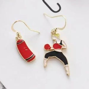 3️⃣@$30🥊 Boxer Boxing Girl Dangle Earrings